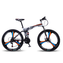 Dobrável bicicleta mountain bike roda tamanho 26 polegadas bicicleta de estrada 21 velocidades suspensão da bicicleta freio a disco duplo