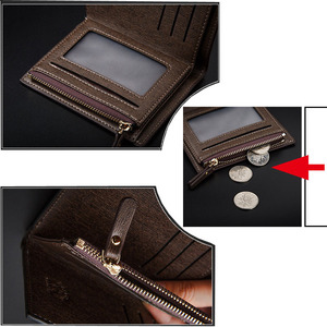 Image 5 - Long Short Style Wallet Men Fashion PU Leather Car logo Bag Card Package Wallet Coin Bag For Alfa Romeo Casual Standard Wallet