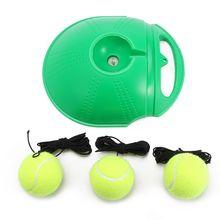 3 Яйца+Одиночный Теннисный Тренер Отскок Шаров Для Базы Случайных Цветов