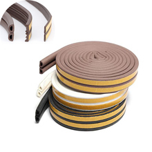10M/roll Self Adhesive door seal strip Rubber Weather Strip Windproof Soundproof window sealing tape  hardware accessories