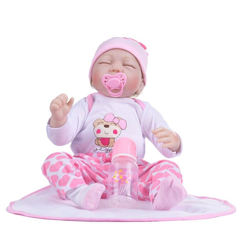 16 дюймов 40 см Силиконовые Винил reborn baby doll игрушечный олень, детский приятель кукла из мягкой натуральной touch детские игрушки для подарка на день рождения и рождественским