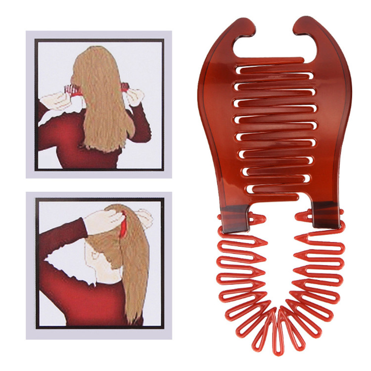 2 Colors New Woman Girls Elastics Hair Braider Scorpion Type Hair Holding Tool Ponytail Rubber Bands Hair Accessories