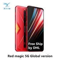 Nubia-teléfono inteligente Red Magic 5G, versión Global, 6,65 pulgadas, AMOLED, NFC, Snapdragon 865, 4500mAh, 64MP, envío gratuito por DHL