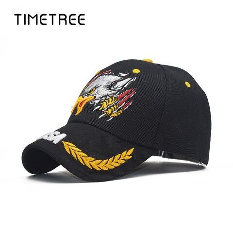 Vintage Eagle Head Embroidery Patriot Baseball Mesh Caps&Hat Outdoor Snapback Hats Adjustable Camping Baseball Caps gorras homme Pakistan