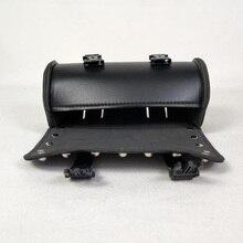 Передняя вилка для мотоцикла, сумка для инструментов, сумка для багажа, черная кожа для Harley