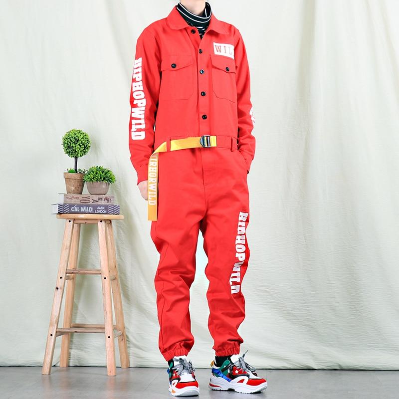 Autumn Trendy Male Personality Jumpsuit Men's Fashion Casual Overalls Men And Women Korean Hip Hop Jumpsuit