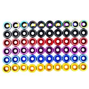 Image 4 - Vis de pare chocs pour moteur, 10 pièces, fixations hexagonales modifiées, vis concaves en aluminium et boulon M6 pour Honda QRF002 TP
