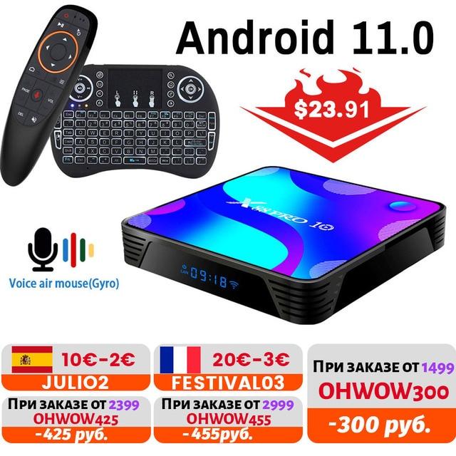 X88 PRO Android 11.0TV Box 2.4G e 5.8G Wifi RK3318 4GB 32GB 64GB 128G supporto Youtube Set Top Box