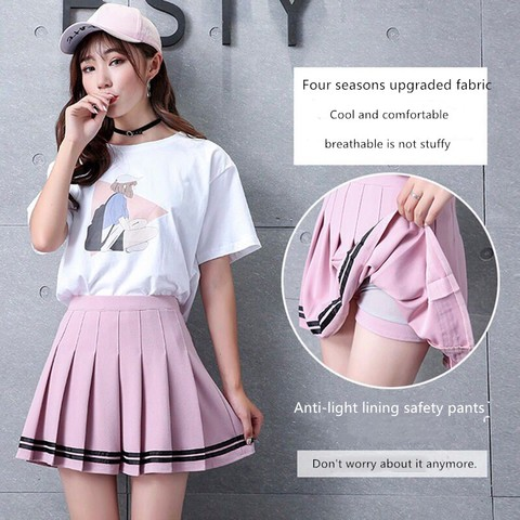 Women high waist Cosplay skirt 2019 Spring summer kawaii Denim solid a-line sailor Skirts Japanese school uniform Mini Skirts Lahore