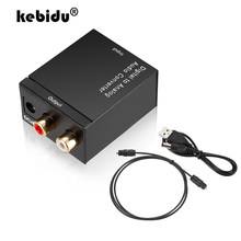 Sinal coaxial da fibra ótica de 3.5mm jack para dac spdif analógico estéreo digital ao conversor audio analógico 2 * rca amplificador decodificador