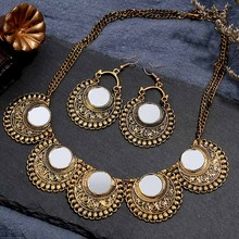 Crazy Feng Big Statement Jewelry Sets for Women Gold Copper Choker Necklaces Earrings Set Wedding Party Jewelry Accessories indian jewelry set chic style ethnic shining bib choker necklaces earrings party wedding fashion jewelry sets