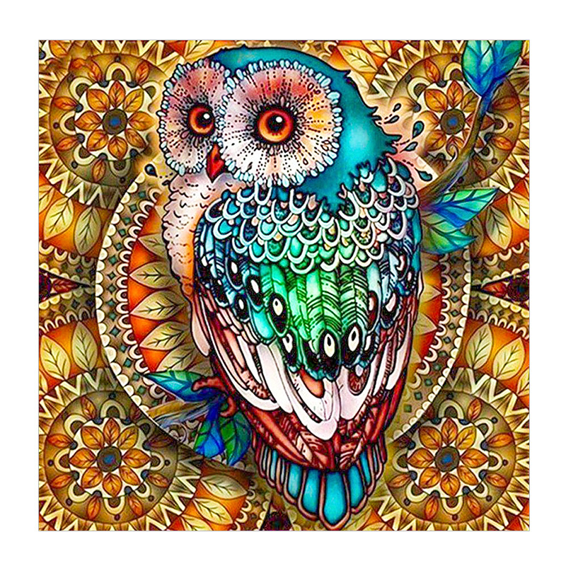 Mega Sale 9bd9 Full Square Diamond Embroide Owl 5d Diy Diamond