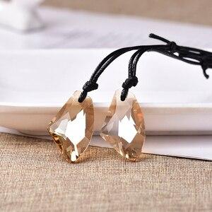 Image 3 - Toptan moda düzensizlik kristal kolye ekleyebilirsiniz Charm kadınlar takı aşk bellek düğün kolye sevgililer günü hediyesi