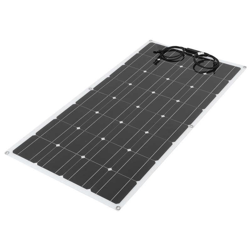 100w semi flexivel painel solar monocristalino portatil placa de carregamento para ao ar livre rv barco