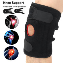 Knee Brace Support Elastic Kneepad Adjustable Open Patella Stabilizer Protector Wrap for Basketball Football Sport Knee Support(China)
