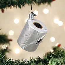 1 pçs novo papel higiênico natal árvore pingente de prata decorações de natal 2020 mão desinfetante padrão ornamento noel navidad presente 2021