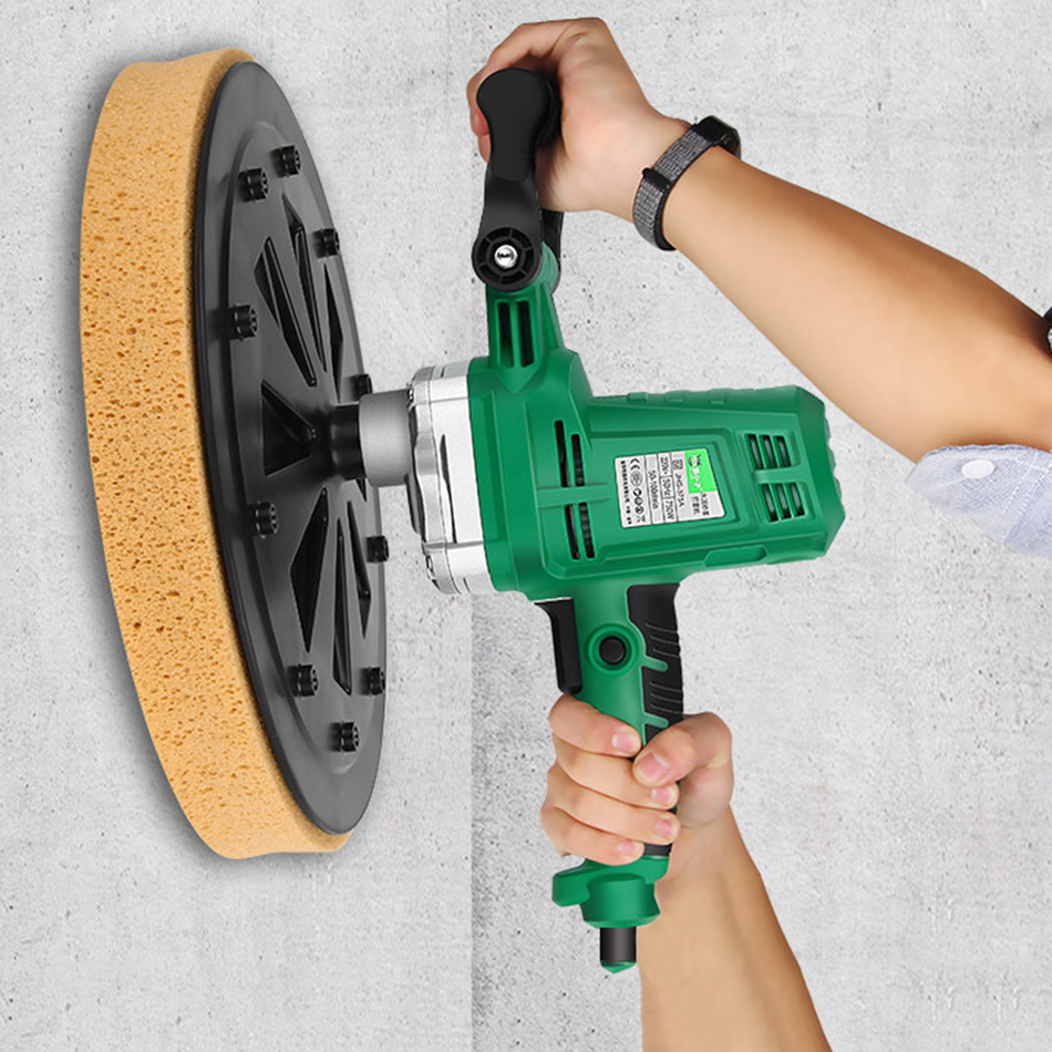 750W Concrete Sander 230V Wall Polishing Machine Grinding Portable 50-100r/min Putty Electric Polisher Machine Hand-held Tool