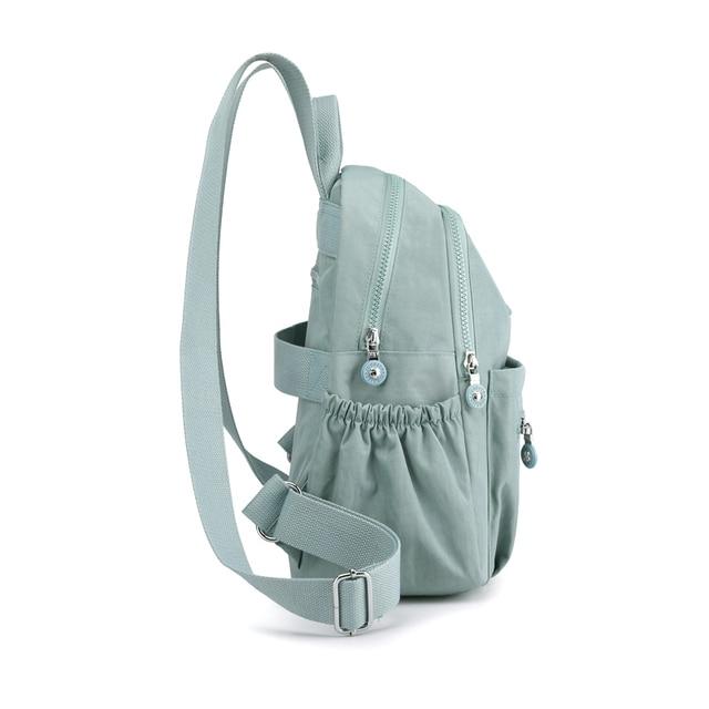 Women Waterproof Nylon Backpack Fashion Female Shoulder Bag Youth Vitality Style Multi-functional Travel School Bag 4