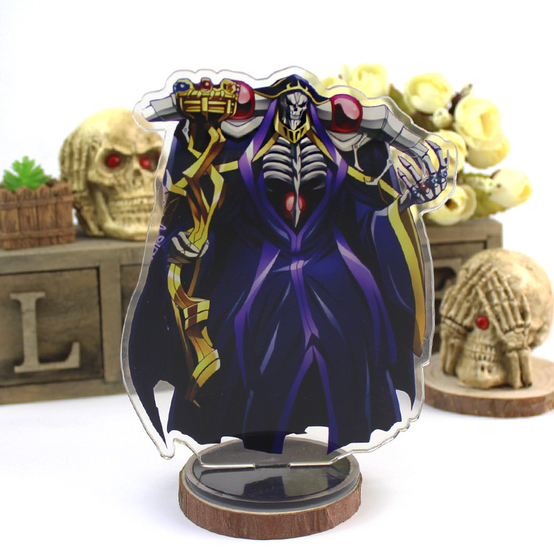 Anime Overlord Display Stand Plate Ainz Ooal Gown Cartoon Figure Acrylic Stand Model