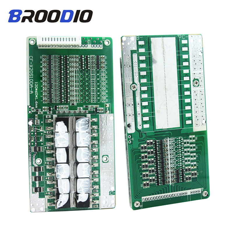 BMS 14S 48V 45A lto 18650 Li ion Lithium Battery Pack Protection Board With balancer Balance BMS PCB Equalizer Circuits Common|Battery Accessories| |  - title=