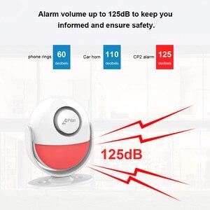 Image 4 - Cpvan pirモーションセンサーワイヤレス赤外線警報器ホームセキュリティ盗難検出器125dBアラーム音量追加リモコン