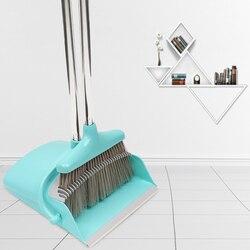 Składana domowa kreatywna wiatroodporna szufelka z miotłą z piłokształtnym łatwym do czyszczenia włosiem praktyczna dobra twardość o dużej pojemności