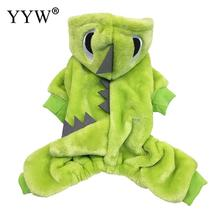 Cute Dog Clothes For Small DogS Cotton Clothing Dogs Warm Dinosaur Costume Pets Products Animal Costumes Outfit