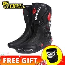 PRO-BIKER hız BIKERS motosiklet botları erkekler Moto yarış Motocross Off-Road motosiklet motosiklet ayakkabı Botas Moto binici çizmeleri