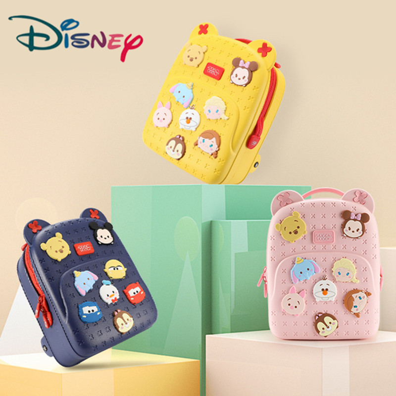 Disney New Schoolbag Children kindergarten Boys Girl Cute Baby Pink Yellow Navy Backpack For 90-110cm Children Birthday Gifts