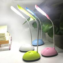 Складная Светодиодная настольная лампа на батарейках для чтения