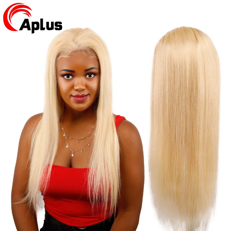 Aplus 613 Lace Front Wig Straight Human Hair Blonde Lace Front 13*4 Wig Peruvian Remy Hair With Pre Plucked Hairline.