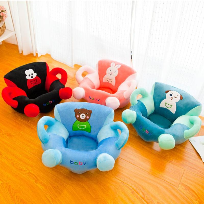 Baby Soft Sofa Cover Toddler Crystal Velvet Originality Personality Comfortable Nest Anti-fall Cute Cartoon No Filling