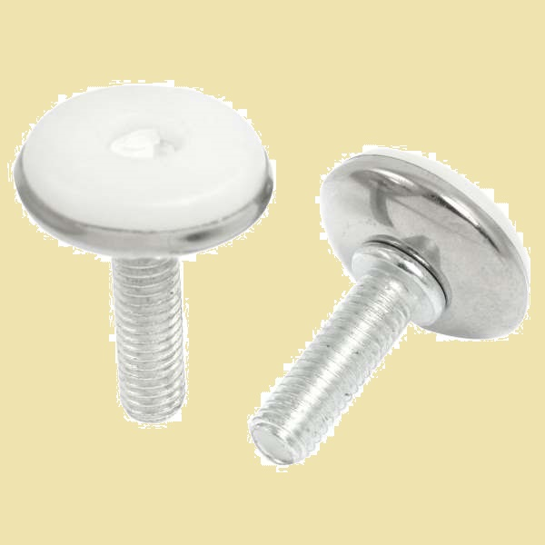 Adjustable Thread M8 X 25mm Leveller Leveling Foot Furniture Glide 2Pcs