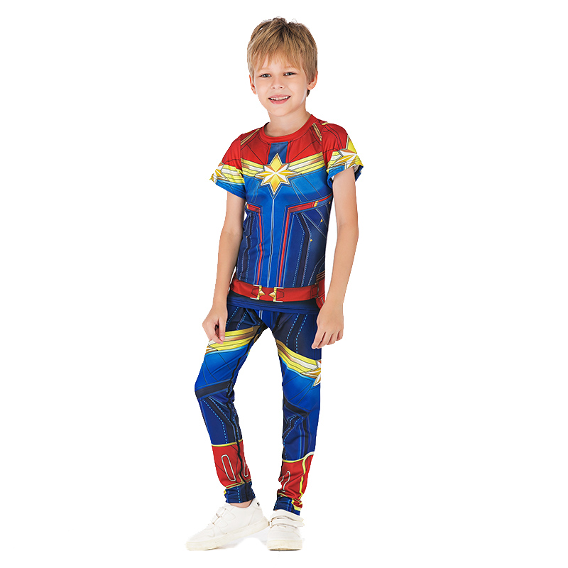 Marvel Avengers 4 Iron Man Thor Child Boys JIUJITSU Clothes Baby Spider Man Workout Costume Kids T Shirts Boxeo Jerseys Top Tees