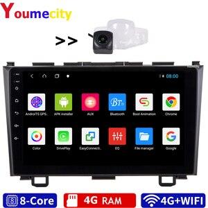 Image 1 - Autoradio Android, 4 go RAM/8 cœurs, avec écran IPS Gps, Wifi, Bluetooth, caméra AHD, lecteur multimédia pour voiture Honda CRV 3 (2006 2011, 2008)