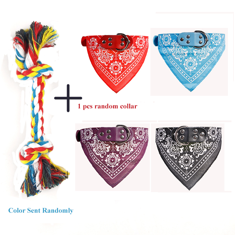 1 Pcs Dog Bite Rope Toys Pets Dogs Supplies Pet Dog Puppy Cotton Chew Knot Toy Durable Braided Bone Rope Funny Tool Random Color 10