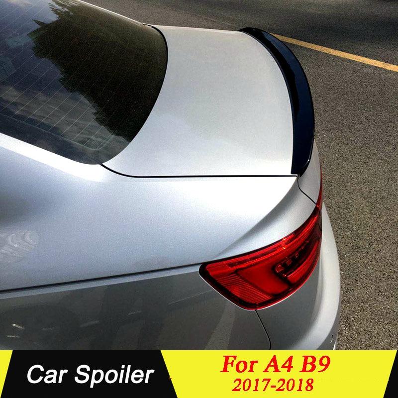 Задний спойлер багажника для Audi A4 B9 2017 2018 ABS Материал черный или неокрашенный праймер цвет задний спойлер для Audi A4 B9