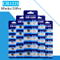 25 шт./5 шт в упаковке CR1225 аккумулятора кнопочного типа LM1225 BR1225 KCR1225 ячейки литий Батарея 3V CR 1225 для мобильного часо-Электронная игрушка пульт ...