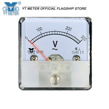 Sd50 pointer AC ammeter voltmeter 1A 2A 3A 5A 10A 15A 20A 30A 50A 300V 500V dh50 direct use meter 45mm test instrument ampere