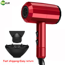 Secador de cabelo de íon negativo quente e frio forte vento 6 engrenagem secador de cabelo secador de cabelo secador de cabelo com difusor 2 velocidade 3 aquecimento seco