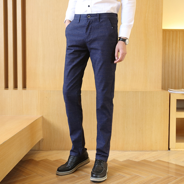 2020 Mens Pants Spring Summer Casual Long Pants Classic Business Male Straight Trousers Men Work Dress Fashion Stretch Joggers