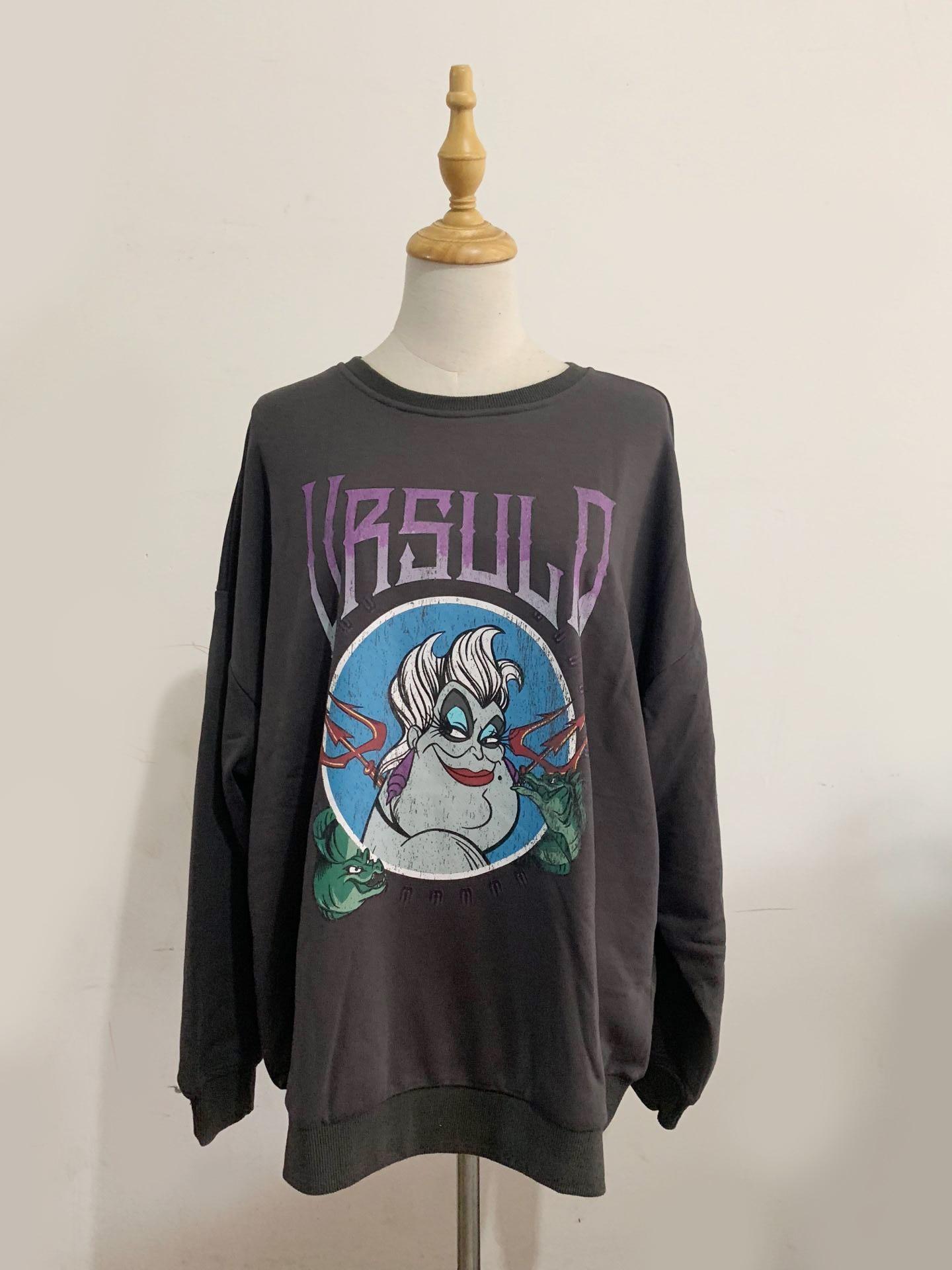 Disney sweatshirt moda a pequena sereia ursula