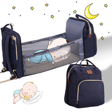 Mommy Baby Diaper Bag Bed Backpack For Mom Maternity Bag For Stroller Nappy Bag Large Capacity Bag For Baby Care With Hooks New