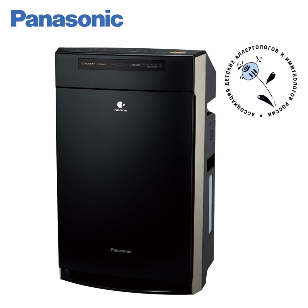 Air Purifiers Panasonic F-VXR50R-K Black Sterilize Dusting HEPA Filter Humidification air-cleaning automatic ECONAVI nanoe