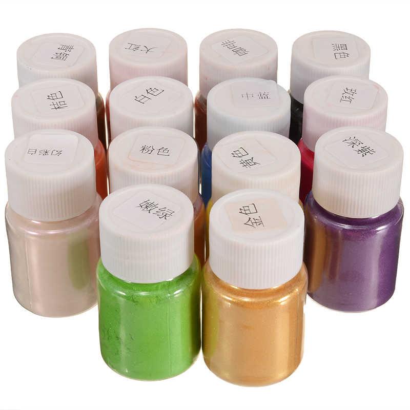 ใหม่ 14 สี Mica Pigment ระเบิด Pearl Slime สี NATURAL Mica ผงสบู่ Dye แต่งหน้า Pigment ชุด