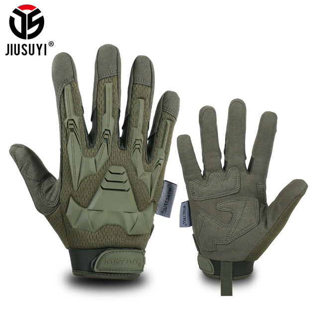 Tactical Military Gloves Army Paintball Shooting Airsoft Combat Bicycle Rubber Protective Anti-Skid Full Finger Glove Men Women 1