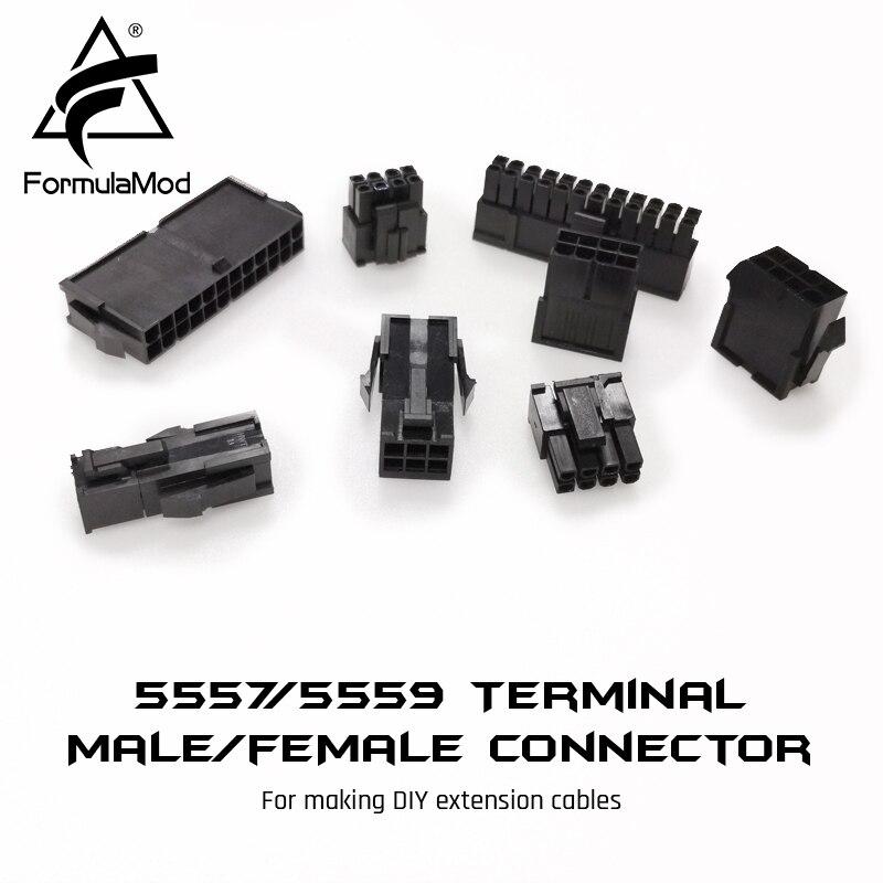FormulaMod Fm-JL, 5557/5559 Terminal Male/female Conntector, PCI-E/CPU/ATX/D-type/Sata Connector For Making DIY Extension Cables