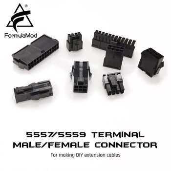 FormulaMod Fm-JL, 5557/5559 Terminal Male/female Conntector, PCI-E/CPU/ATX/D-type/Sata Connector For Making DIY Extension Cables image