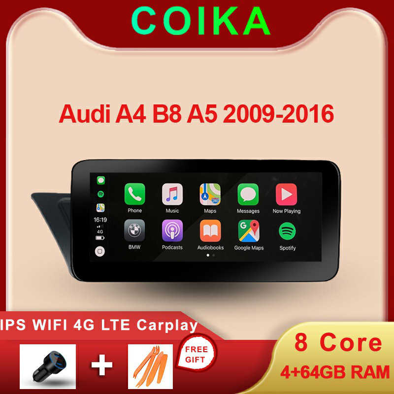 8 Core Android 9.0 Sistem Stereo Mobil untuk Audi A4 B8 A5 2009-2016 WIFI 4G LTE Carplay 4 + 64GB RAM SWC IPS Touch Screen GPS Navi