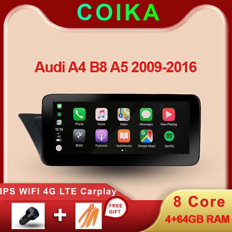 8 ядер Android 9,0 система стерео для Audi A4 B8 A5 2009-2016 WIFI 4G LTE Carplay 4 + 64 Гб RAM SWC IPS сенсорный экран GPS Navi